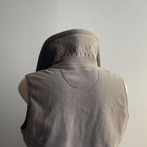 Light Brown Calvin Klein Fleece Vest 2X